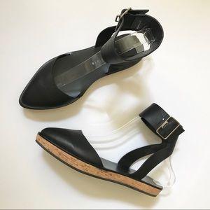 Alice + Olivia Reese Ankle Strap Leather Flatform